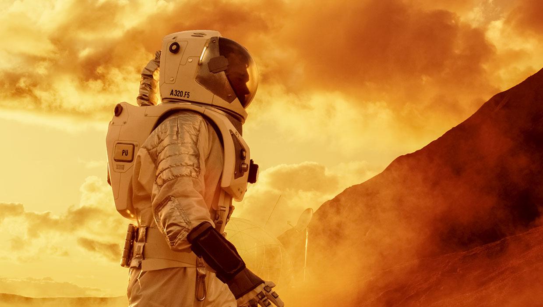 Astronautin sivuprofiili