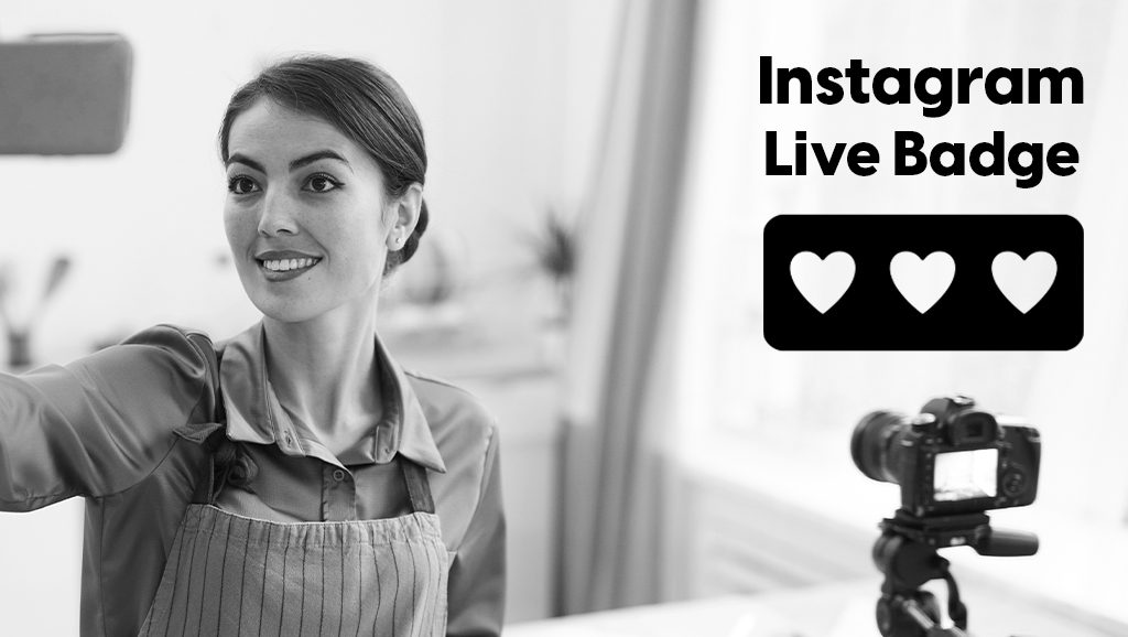Instagram live badge